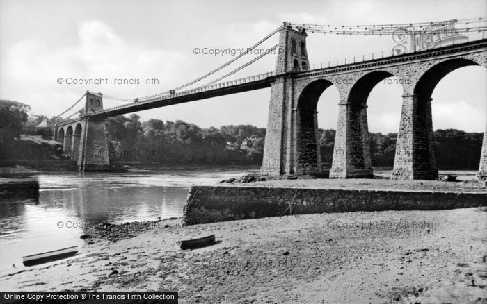 Photo of Menai Bridge, The Suspension Bridge c.1955