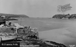 Menai Bridge, View From The Bowling Green c.1955