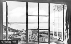 Menai Bridge, View From Wern Y Wylan Hotel c.1955