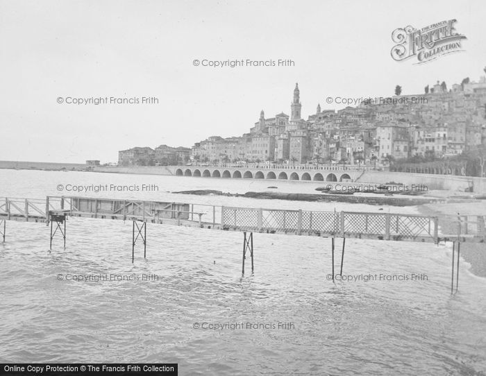 Photo of Menton, Port And Old Town c.1939