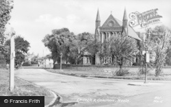 Meols, Church And Common c.1955