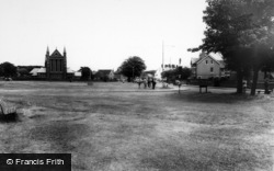 Meols, The Green And St John's Church c.1965