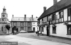 Mere, The Talbot Hotel And Clock Tower c.1955
