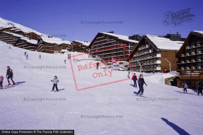 Photo of Méribel, Ski Slope And Chalets 1981