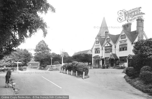 Merrow, Hotel and Church 1927.  (Neg. 79924)  © Copyright The Francis Frith Collection 2008. http://www.francisfrith.com