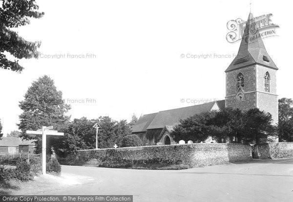 Photo of Merrow, St John's Church 1927