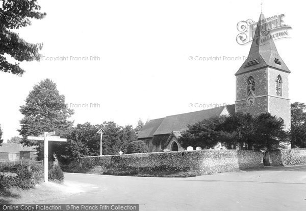 Merrow, St. Johns Church 1927.  (Neg. 79925)  © Copyright The Francis Frith Collection 2008. http://www.francisfrith.com
