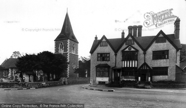 Photo of Merrow, St John's Church And House c.1955