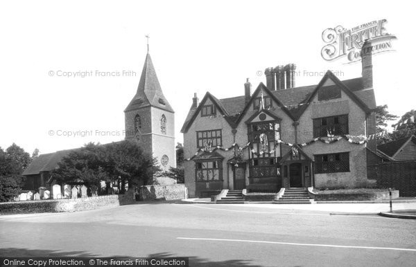 Photo of Merrow, St John's Church And Inn 1936