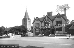 Merrow, St John's Church And Inn 1936