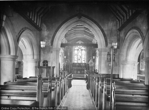 Merrow, St John's Church Interior 1927