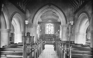 Merrow, St John's Church Interior 1927