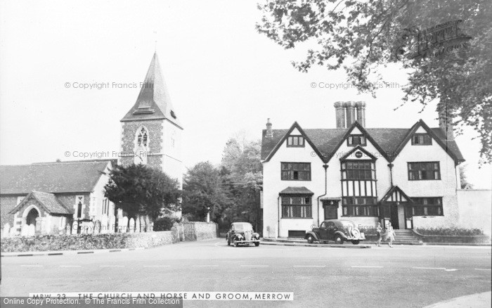 Photo of Merrow, The Church And Horse And Groom c.1960