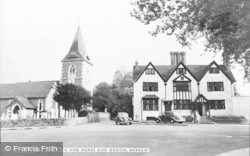 Merrow, The Church And Horse And Groom c.1960