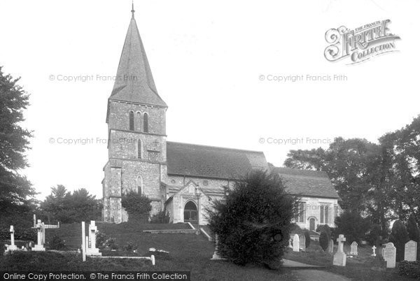 Merstham Church, 1902. Reproduced courtesy of The Francis Frith Collection