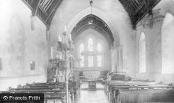 St Teilo's Church Interior c.1955, Merthyr Mawr