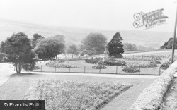 Merthyr Tydfil, The Flower Gardens, Cyfrarthfa Castle c.1955