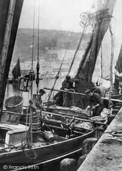 Mevagissey, Harbour, A Fishing Boat 1898