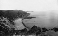Mevagissey, Polstreath Beach 1898