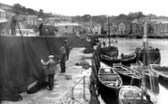 Mevagissey, Spreading The Nets To Dry 1924