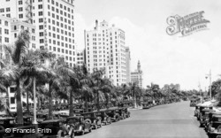 Biscayne Boulevard On A Sunny Winter Day c.1930, Miami
