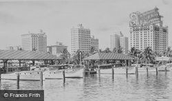 Fishing Guide Boats At Pier 5 c.1930, Miami