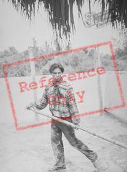 Musa Isle, Seminole Alligator Wrestler c.1935, Miami