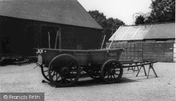 Michelham Priory, A Sussex Broad-Wheeled Wagon c.1965