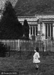 Boy By The St Michael's Church 1904, Mickleham