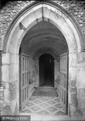 Church West Doorway 1910, Mickleham
