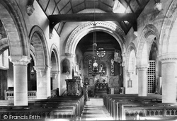 St Michael's Church Interior 1906, Mickleham