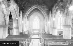 Parish Church, Interior c.1950, Mickleover