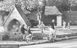 Mickleton, Children And The Fountain c.1960