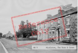 The Rose And Crown Inn c.1955, Mickleton