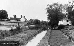 Middle Wallop, Watercress Beds From Cross Roads c.1955