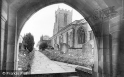 Middleham, Church From Lychgate c.1932