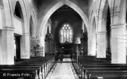 Middleham, Church Interior 1896