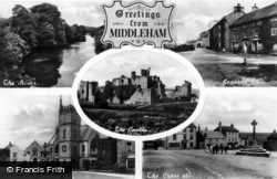 Middleham, Composite c.1910
