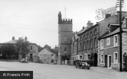 Middleham, Post Office And School c.1960