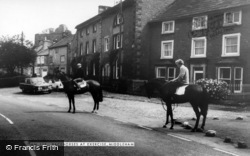 Middleham, Racehorses At Exercise c.1965