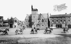 Racehorses In Upper Square c.1965, Middleham