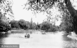 The Lake, Albert Park c.1955, Middlesbrough