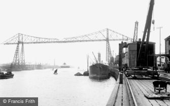 Middlesbrough, the Transporter Bridge 1913
