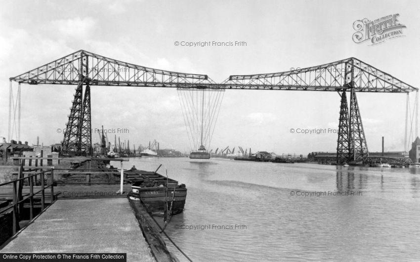 Middlesbrough, the Transporter Bridge c1955
