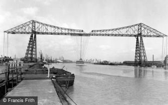 Middlesbrough, the Transporter Bridge c1955