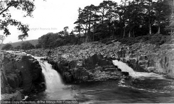 Photo of Middleton-In-Teesdale, the Salmon Leap, Winch Bridge c1955, ref. m136041