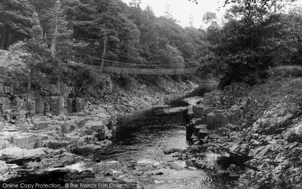 Photo of Middleton In Teesdale, Winch Bridge c.1955