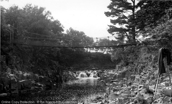 Photo of Middleton-In-Teesdale, Winch Bridge c1955, ref. m136036