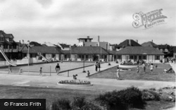 Middleton-on-Sea, Southdean Holiday Centre, Swimming Pool And Chalets c.1960
