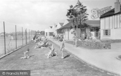 Middleton-on-Sea, Southdean Holiday Centre, Tennis Courts And Club House c.1960